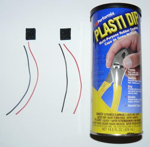 Foam Sensor, Wire, Plasti Dip