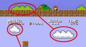 The Clouds and Bushes in Super Mario Bros are the Same