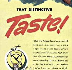Classic Dr Pepper Advertisement