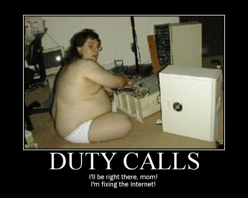 duty calls demotivator