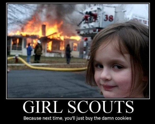 Girl Scouts Demotivator