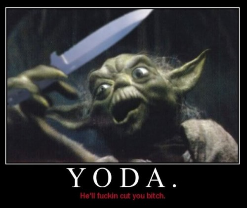 yoda demotivator