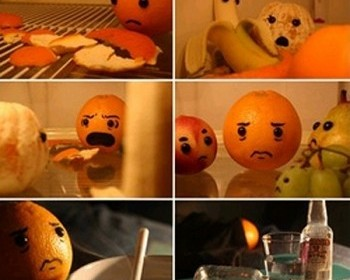 cheating orange