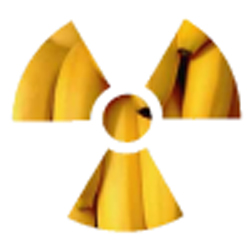 The symbol of radioactive bananas