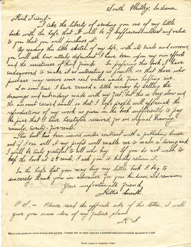 Foot Letter by Kittie Smith