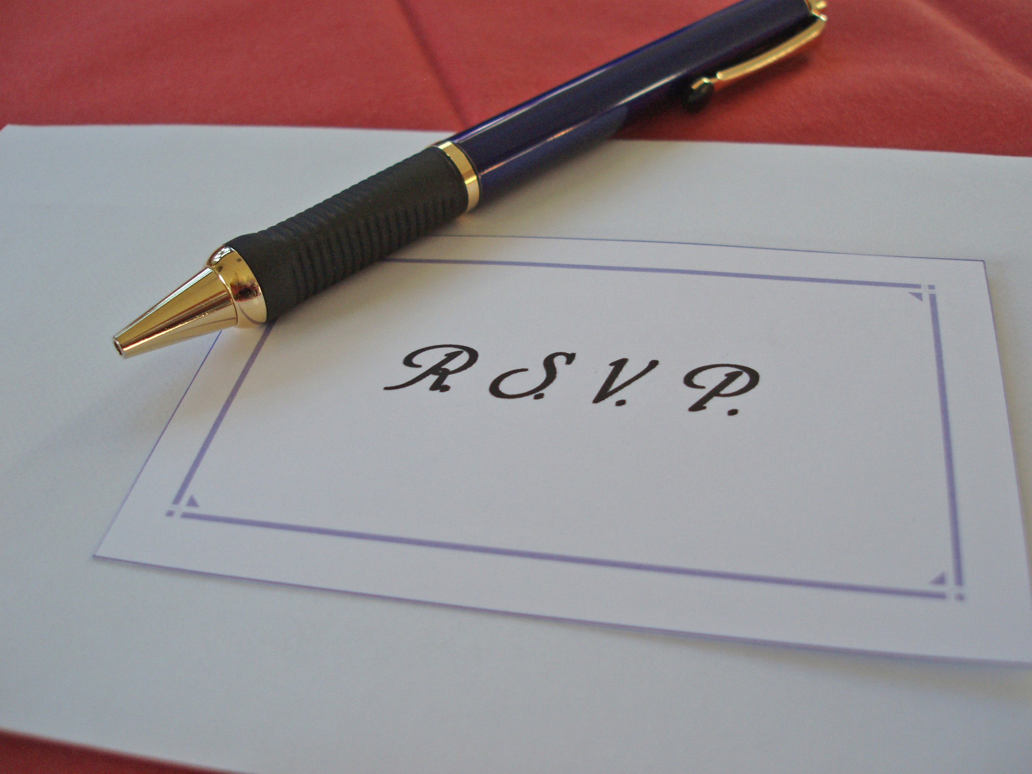 What RSVP Stands For – Rsvp in Invitation Card Meaning