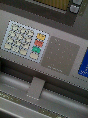 Can someone explain to me why there is braille on drive thru ATMs