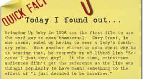 "The First Time ""Gay"", Meaning ""Homosexual"", Was Used as Such in a Film"