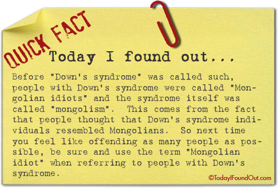 What People With Down's Syndrome Used to Be Called