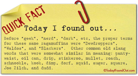 Classic Slang Terms for Nerds and Geeks