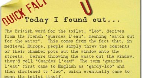 "Where the Word ""Loo"" Came From"