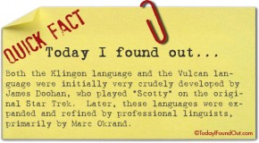 "The Klingon and Vulcan Languages Were Initially Developed by ""Scotty"""
