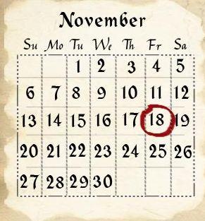 18 noviembre: