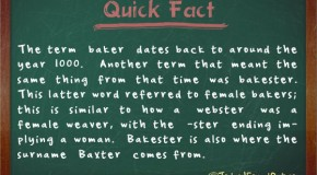 "A ""Bakester"" was Once the Proper Word to Refer to a Female Baker"