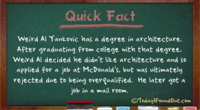 Weird Al Yankovic has a Degree in Architecture