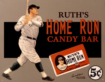Ruth Candy Originals Candy Bar With Babe Ruth