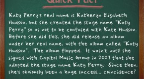 Katy Perry's Real Name is Katheryn Hudson