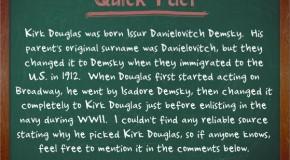 Kirk Douglas' Real Name was Issur Danielovitch Demsky