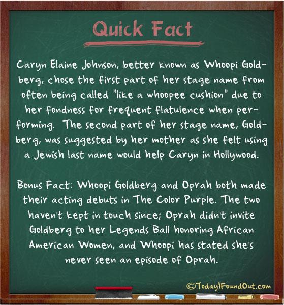 whoopi goldberg facts