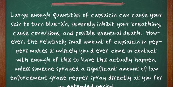 capsaicin facts