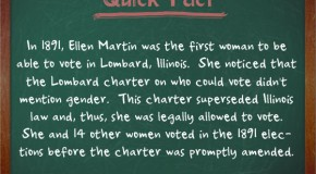 Ellen Martin and 14 Other Women Managed to Legally Vote in Illinois in 1891, Even Though Illinois Law Didn't Allow Women to Vote