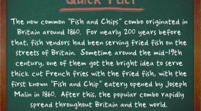 "The ""Fish and Chips"" Combo Originated in Britain Around the Mid-19th Century"