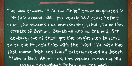 Fish and Chip Facts