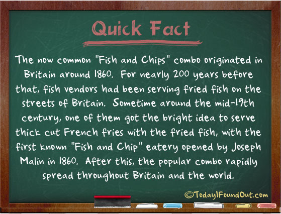 The fish and chips combo originated in britain around for Fun fish facts