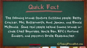 Betty Crocker, Mrs. Butterworth, Aunt Jemima, and Ronald McDonald are All Fictitious