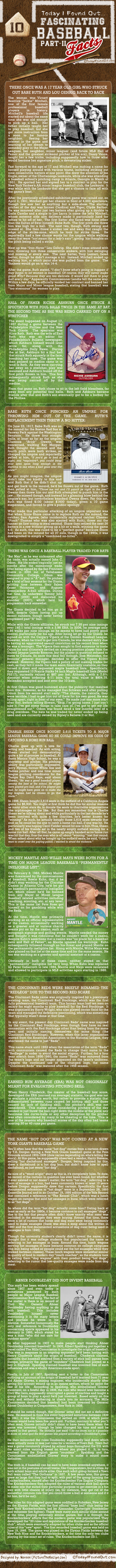 Fascinating Baseball Facts Infographic Part 2