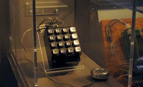 A Blue Box designed and built by Steve Wozniak, currentally residing in the Computer History Museum in Mountain View California