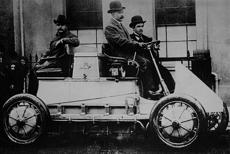 First electric motor Induction The Verge The First Gaselectric Hybrid Vehicle Was Invented In 1900