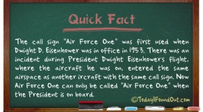 When The Call Sign 'Air Force One'  Was First Used