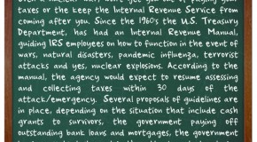 The United States IRS Has A 'Continuity Plan' In Place for How to Collect Taxes After a Nuclear Attack