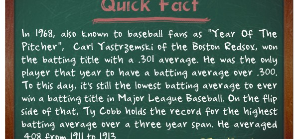 TIFO Quick Fact - Lowest batting average to win a title