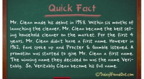 Mr. Clean's First Name is Veritably