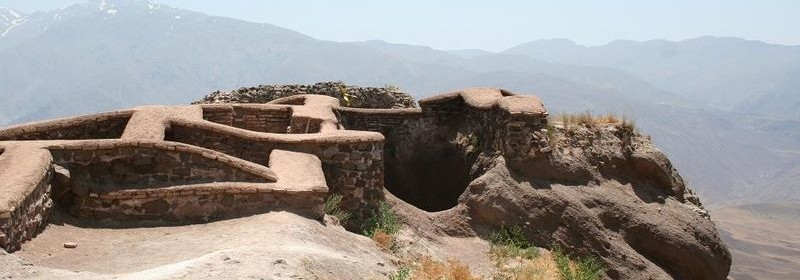Ruins of the fortress at Alamut