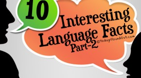 10 Interesting Language Facts (Part-2)