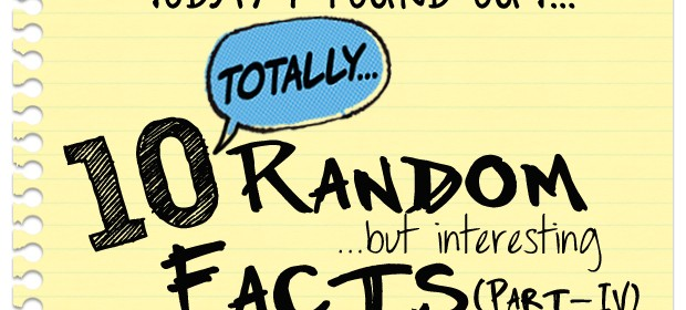Totally Random Facts - Part 4 thumbnail