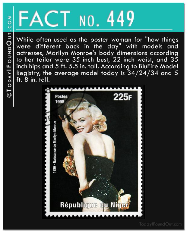 Marilyn monroe's dimensions
