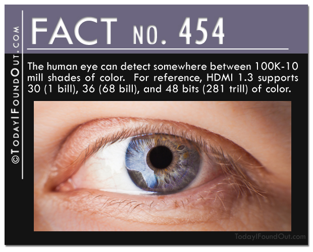 how many colors a human eye can detect