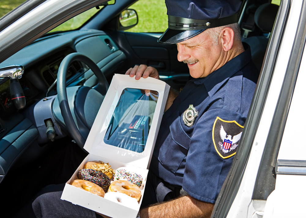 cop donut what started the \