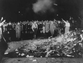 "Burning of ""Un-German"" books.  Berlin, Germany May 10, 1933."
