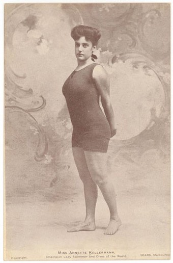 Annette Kellerman's one-piece swimsuit that got her arrested