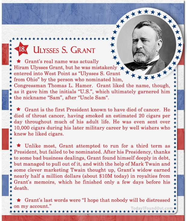100+ Facts About US Presidents 18- Ulysses S Grant