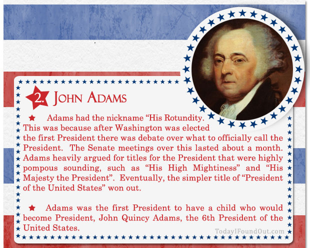 100+ Facts About US Presidents 2- John Adams