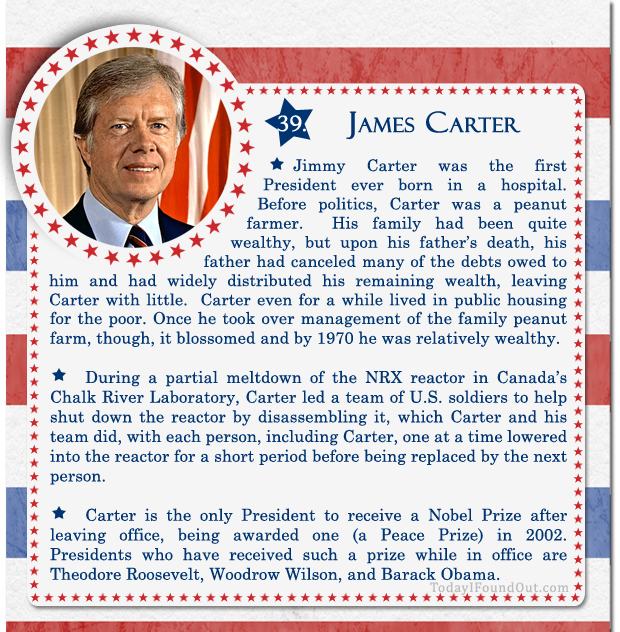 100+ Facts About US Presidents 39- James Carter