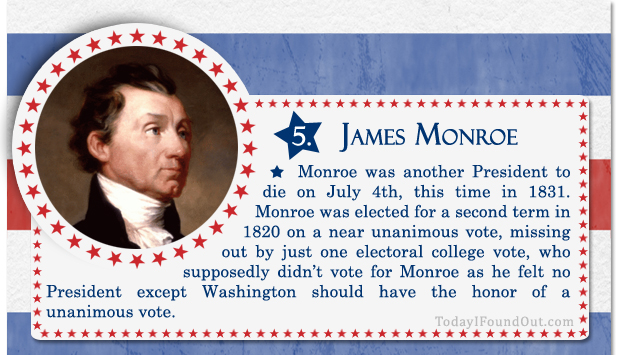 100+ Facts About US Presidents 5- James Monroe