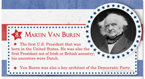 100+ Facts About US Presidents 8- Martin Van Buren