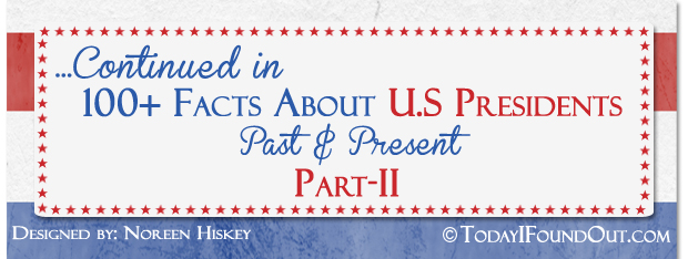100+ Facts About US Presidents Part-1 End